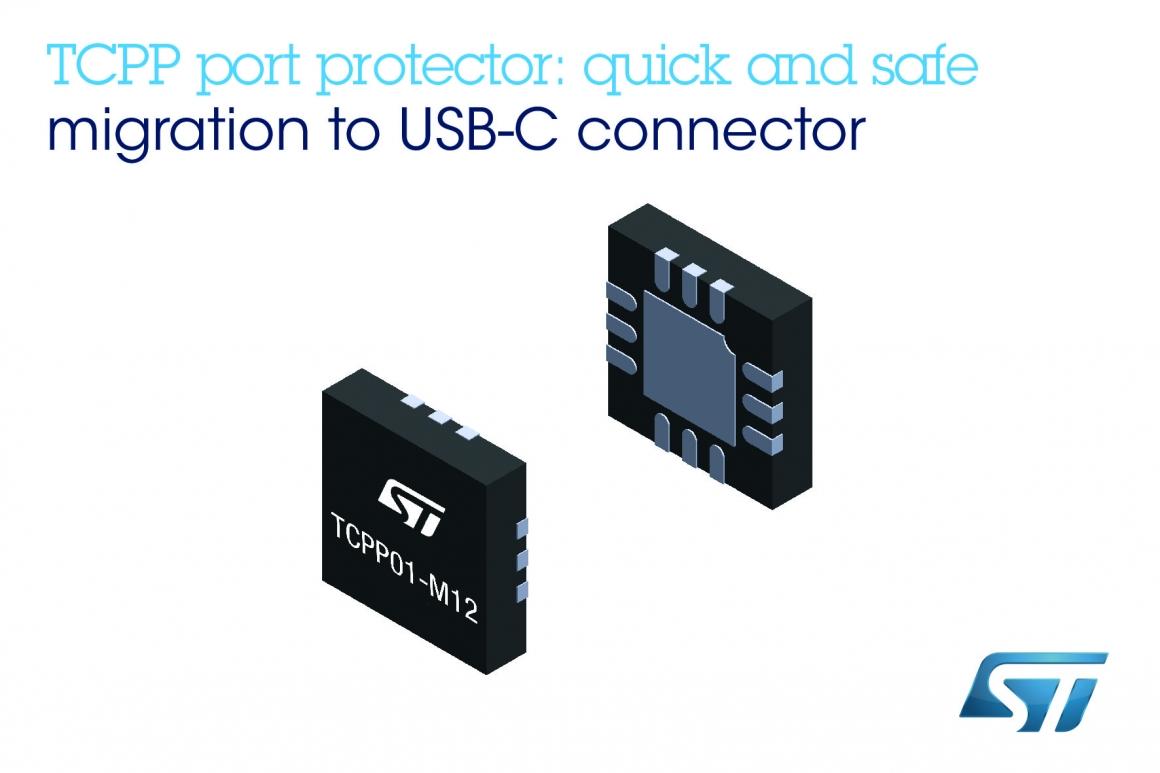 ST新聞稿2019年11月6日——意法半導體USB Type-C埠保護IC全面防護,簡化大眾市場設備資料線升級過程