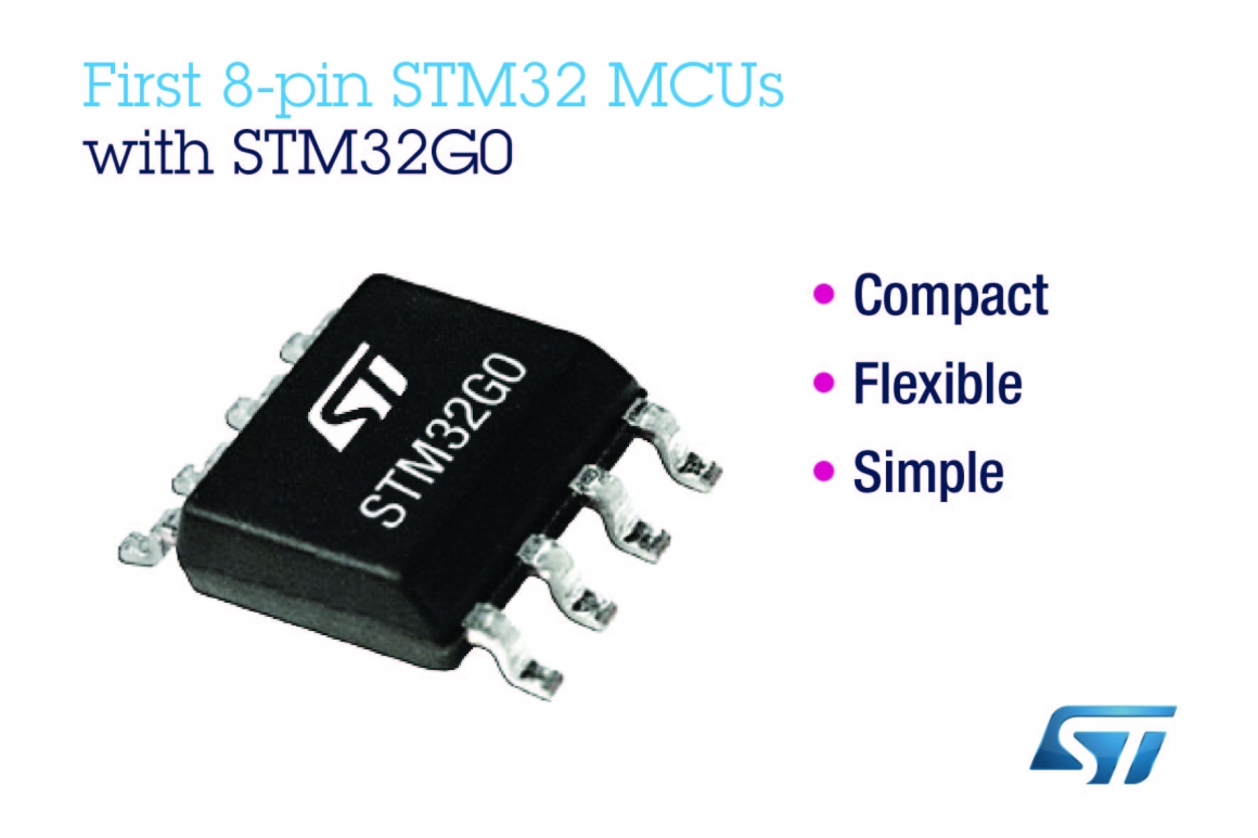 ST新聞稿9月20日——意法半導體推出首款8引腳STM32微控制器,可適用于簡單應用