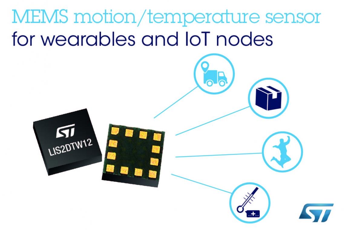 ST新聞稿4月23日——MEMS晶片整合加速度計與高準確度溫度感測器,實現出色的測量精確度