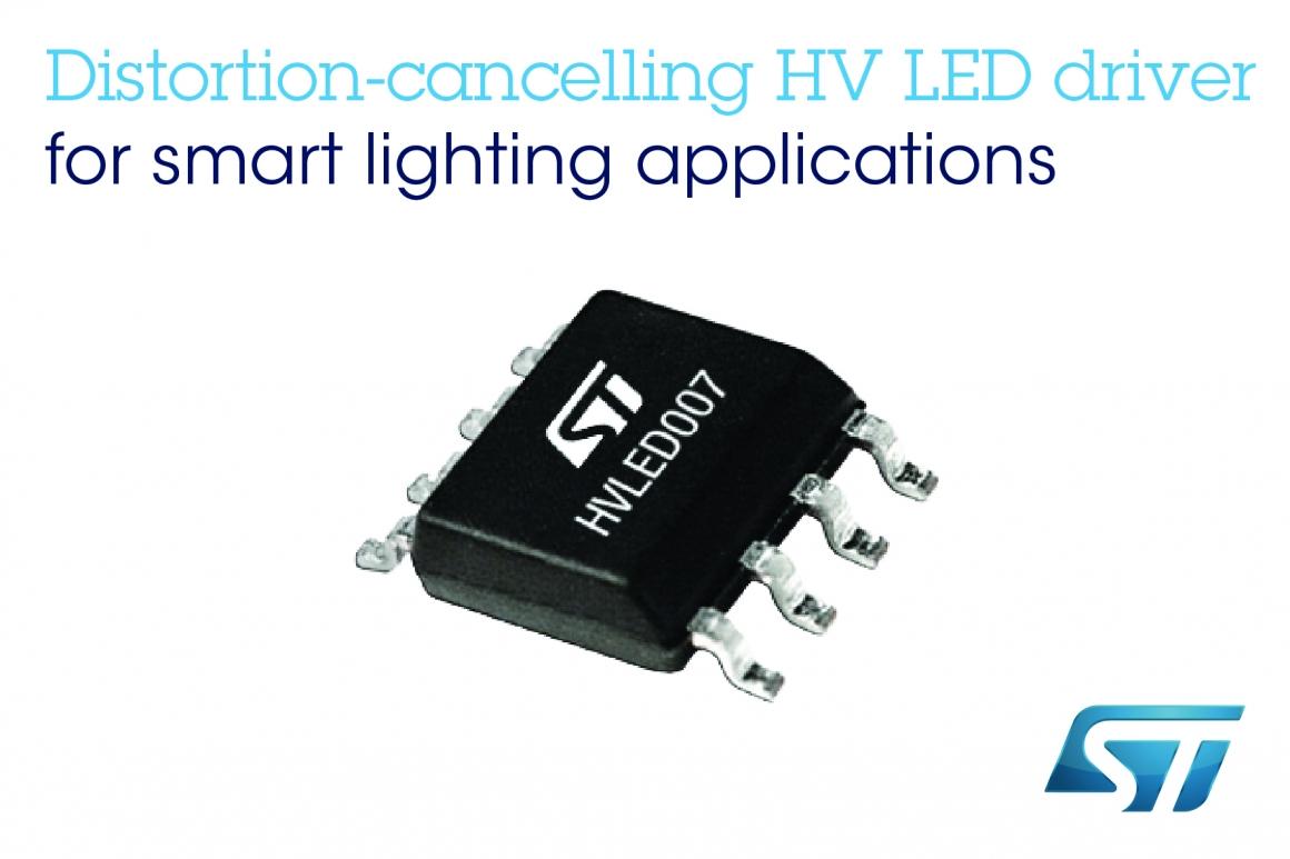 ST新聞稿9月17日——讓節能燈具面向未來:意法半導體推出低失真高壓LED驅動器