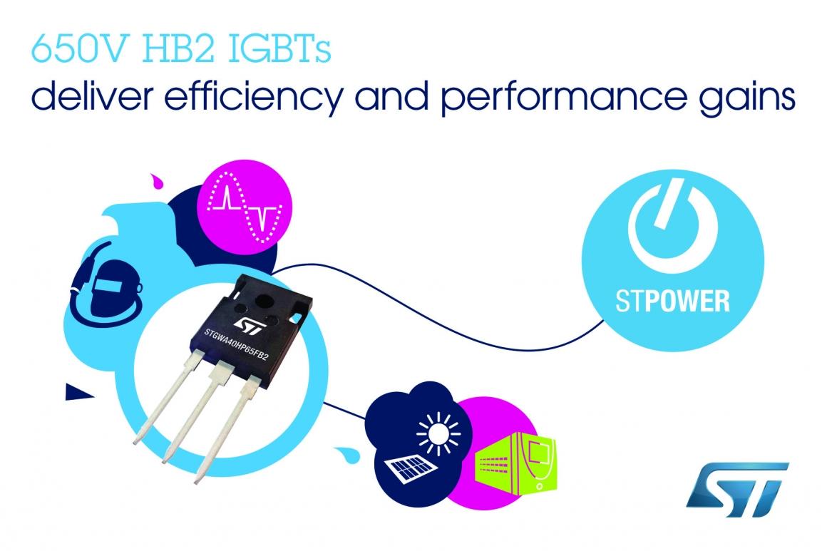 ST新聞稿4月30日——意法半導體650V高頻IGBT利用最新高速開關技術提升應用性能