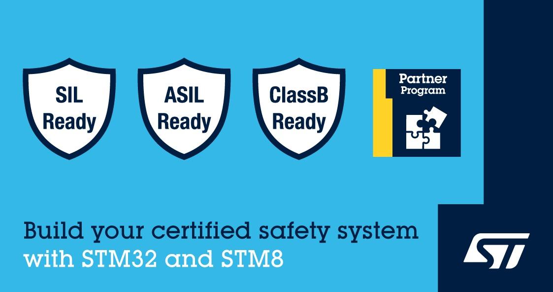 ST新聞稿2020年5月12日——意法半導體新推出STM32和STM8認證套裝軟體,可助力設備達到功能安全標準