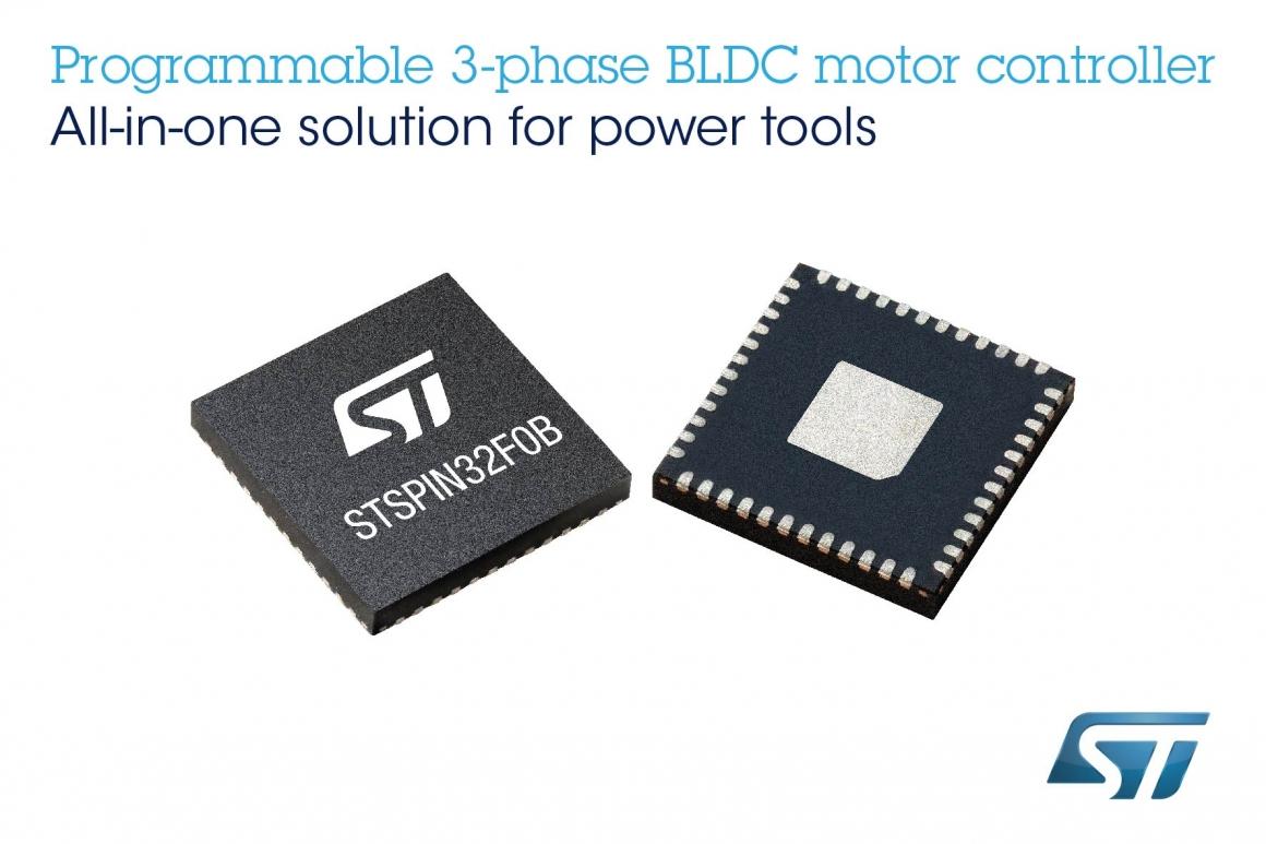 ST新聞稿5月7日——意法半導體STSPIN32單Shunt BLDC電機控制器可大量節省空間、時間和物料成本