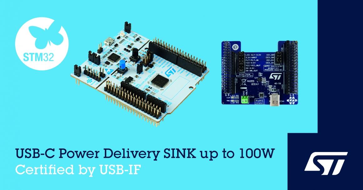 ST新聞稿2020年6月30日——意法半導體推出USB-IF認證開發板,將USB-C®和USB快充功能延伸到嵌入式應用