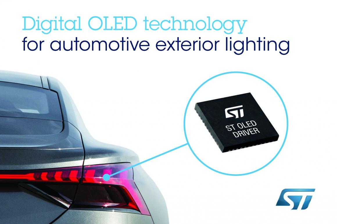 ST新聞稿2019年10月30日——意法半導體與奧迪合作,開發及提供下一代汽車外部照明解決方案