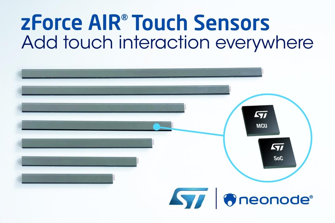 ST新闻图片 2月6日——意法半导体技术助力Neonode为任意物品、表面或空间增加触控交互功能