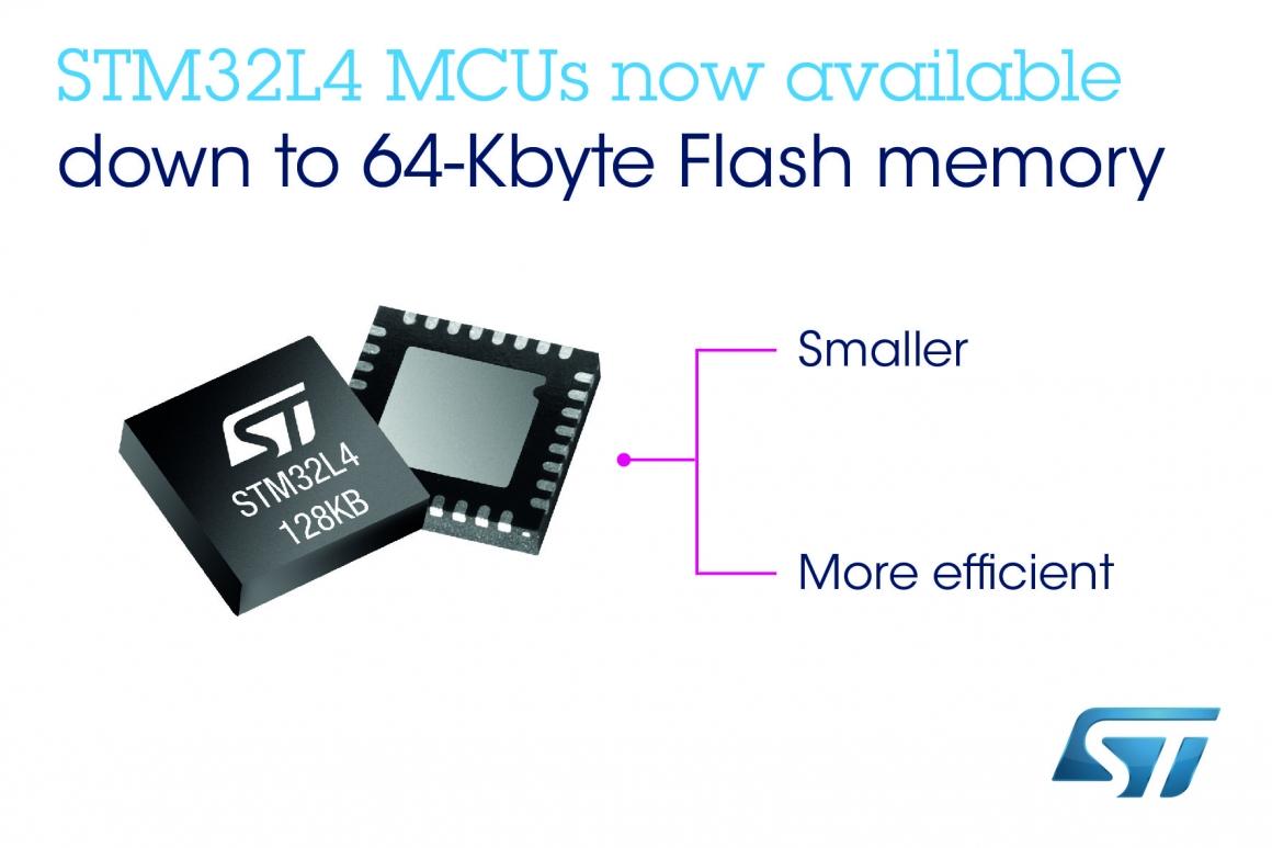 ST新闻稿11月2日——意法半导体(ST)推出新型STM32L4微控制器,让智慧设备更小巧,续航更持久
